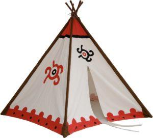 Frontansicht mit Eingang des Tipi Indianerzelt von 2gether Teepee